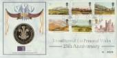 1994 Prince of Wales, Royal Mint Official FDC, St David's Day Caernarfon H/S