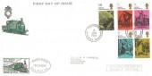 1970 Literary Anniversaries, Festiniog Railway FDC. Festiniog Railway Company cds, + Festiniog Railway 1/3d Railway Letter Stamp