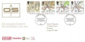 1991 Maps, News of the World Official FDC, Tower of London Ordinance Survey Bicentenary London EC3 H/S