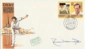 1984 St.Vincent Cricket FDC signed by Derek Underwood