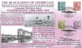 2001 QEII England Regionals 2nd, 1st, E, 65p, Royal Naval Official FDC, Blockading of Zeebrugge By RN Dover Patrol St. Georges Day Dover Kent H/S.Signed
