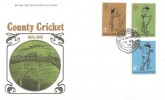 1973 County Cricket Centenary, Post Office FDC, House of Commons SW1 cds