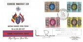 1977 Silver Jubilee, Royal Engineers Official FDC, Exercise Makefast XXV Chatham British Forces 1952 Postal Service H/S, Signed by Major General C. B. Pollard Chief Engineer