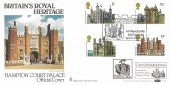 1978 Historic Buildings, Benham BOCS 2 Official FDC, Britain's Royal Heritage Hampton Court Palace Kingston Upon Thames H/S
