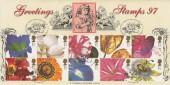 1997 Greetings, Bradbury Official FDC, Greetings Stamps Kew Gardens Rose Richmond Surrey H/S