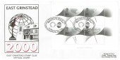 1999 Millennium Timekeepers Miniature Sheet, East Grinstead Stamp Club Official FDC, East Grinstead Stamp Club Millennium Timekeeper H/S