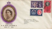 1961 Savings Bank Centenary, Queen Elizabeth II 1953 Coronation FDC, Seaton Devon cds