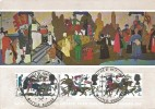 1966 Battle of Hastings, Judge Postcard of Hastings Embroidery, 3 x 4d Stamps only, Battle of Hastings 900th Anniversary Battlefield H/S