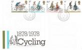 1978 Cycling Centenary, Post Office FDC, Summerbridge Harrogate N.Yorks cds