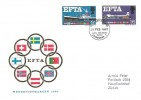 1967 European Free Trade Area EFTA,  Werbepostmarken German FDC, First Day of Issue GPO Philatelic Bureau Edinburgh 1 FDI
