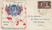 1937 Coronation, Illustrated Souvenir FDC, High Wycombe Bucks. cds