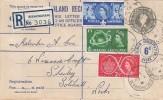 1957 Scout Jubilee Jamboree, G Size Inland Registered 8½d Letter FDC, Birmingham cds