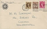 1953 QEII 5d, 8d, 1s Definitive Issue, The St. John Ambulance Brigade FDC, Wolverhampton Staffs. Cancel