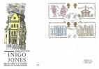 1973 Inigo Jones, Benham Engraved FDC, 400th Diversionary of Inigo Jones Newmarket H/S