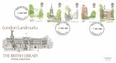 1980 London Landmarks, British Library Cover No.18 FDC, London EC FDI