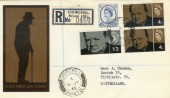 1965 Churchill Registered GPO FDC Churchill Bristol cds. Ordinary Set FDC