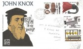 1972  BBC, Post Office John Knox FDC, Coatbridge and Airdrie cds