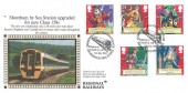 1992 Gilbert & Sullivan, Benham R7 Official FDC, Shoreham by Sea Station Upgrade Shoreham by Sea Sussex H/S