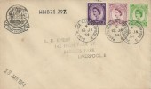 1954 QEII, 3d, 6d, 7d Wilding, Stamp Exchange Cachet FDC, Park Palace Liverpool 8 cds