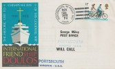 1978 International Friend ship Doulos Cover, Portsmouth VA Paquebot Postmark