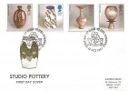 1987 Studio Pottery, Historic Relics FDC, First Day of Issue St. Ives Cornwall H/S
