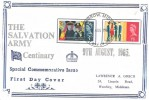 1965 Salvation Army, Lawrence A Grech FDC, Harrow Middx. FDI