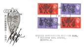 1965 Commonwealth Arts Festival, BPS / PTS FDC, both Phosphor & Ordinary set on the one cover, Bristol FDI