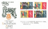 1965 Salvation Army, Illustrated FDC, both Phosphor & Ordinary Set on the one cover. Bristol FDI
