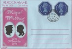 1973 Royal Wedding, Aerogramme 2 x 3p FDC, Clitheroe Lancs cds