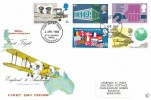 1969 Notable Anniversaries, Connoisseur 50th Anniversary of First Flight FDC, First Day of Issue Philatelic Bureau Edinburgh H/S