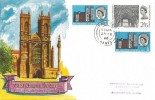 1966 Westminster Abbey, Connoisseur FDC, both Phosphor & Ordinary set on the one cover, Fareham Hants. cds