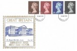 1969 QEII High Value Definitive Issue, 2/6, 5/-, 10/-, £1, Historic Relics FDC, London EC FDI