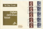 1977 7p & 9p Vertical coils on B.Alan Post Office Design FDC Windsor H/S