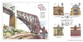 1990 Europa, Bradbury Official FDC, Forth Bridge Centennial South Queensferry W.Lothian H/S