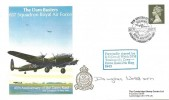 1988 The Dam Busters 617 Squadron Royal Air Force 45th Anniversary of the Dams Raid Cambridge Stamp Centre Cover, Dam Busters Reunion 617 Squadron Derwent Dam Keswick H/S, Signed Douglas Webb DFM