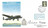 1988 The Dam Busters 617 Squadron Royal Air Force 45th Anniversary of the Dams Raid Cambridge Stamp Centre Cover, Dam Busters Reunion 617 Squadron Derwent Dam Keswick H/S, Signed by Richard Todd acotor