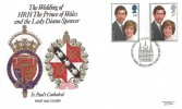 1981 Royal Wedding, Pilgrim FDC, First Day of Issue London EC H/S