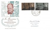 1965 Sir Winston Churchill, In Memoriam Illustrated FDC, Chobham Woking Surrey cds
