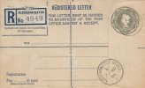 1954 QEII 8½d Registered Printed Postal Stationery Envelope FDC, Kidderminster Worcs. cds