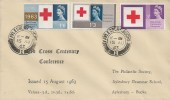 1963 Red Cross, Philatelic Society Aylesbury Grammar School FDC, Aylesbury Bucks. cds