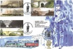 2006 Brunel, M Tanner FDC, Isambard Kingdom Brunel Britain Street Portsea Portsmouth H/S, Double dated Celebrating the 170th Anniversary of Brunel Box Tunnel Corsham Wilts H/S 30th June 2011