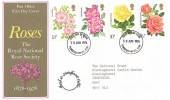 1976 Roses Posted at Sissinghurst Castle Cachet Tunbridge Wells FDI FDC