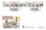 1980 Liverpool & Manchester Railway, Peter Scot FDC, Bressingham Steam Museum Diss Norfolk H/S