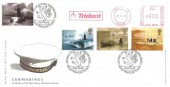 2001 Submarines, Royal Mail FDC, Trident Meter Mark, Centenary of the Royal Navy Submarine Service Faslane Strathclyde H/S