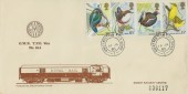 1980 British Birds, Didcot Railway Centre FDC, Great Western TPO Down cds