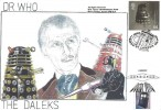1999 Entertainers' Tale, M Tanner Doctor Who & the Daleks FDC, 44p Dalek Stamp, Baker Street London NW1 H/S, Doubled Dated 26th March 2013 Doctor Who 1st Class Tardis Stamp, Cardiff H/S