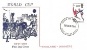 1966 England World Cup Winner FDC, Illustrated FDC, Harrow & Wembley FDI