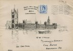 1957 Parliamentary Conference, Hand Illustrated Houses of Parliament FDC, Moseley Birmingham Cancel