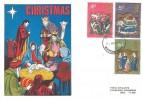 1970 Christmas, Universal Nativity FDC, Watford Herts. FDI