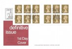2002 QEII Golden Jubilee 12 x 1st Class Walsall Self Adhesive Booklet, A G Bond FDC, 2002 Self Adhesives London SW1 H/S